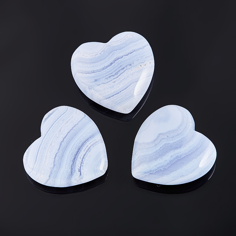Сердечко агат голубой 2,5 см фильтр агат аквафор агат