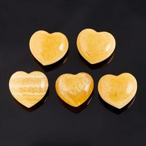 Сердечко кальцит желтый 3-3,5 см