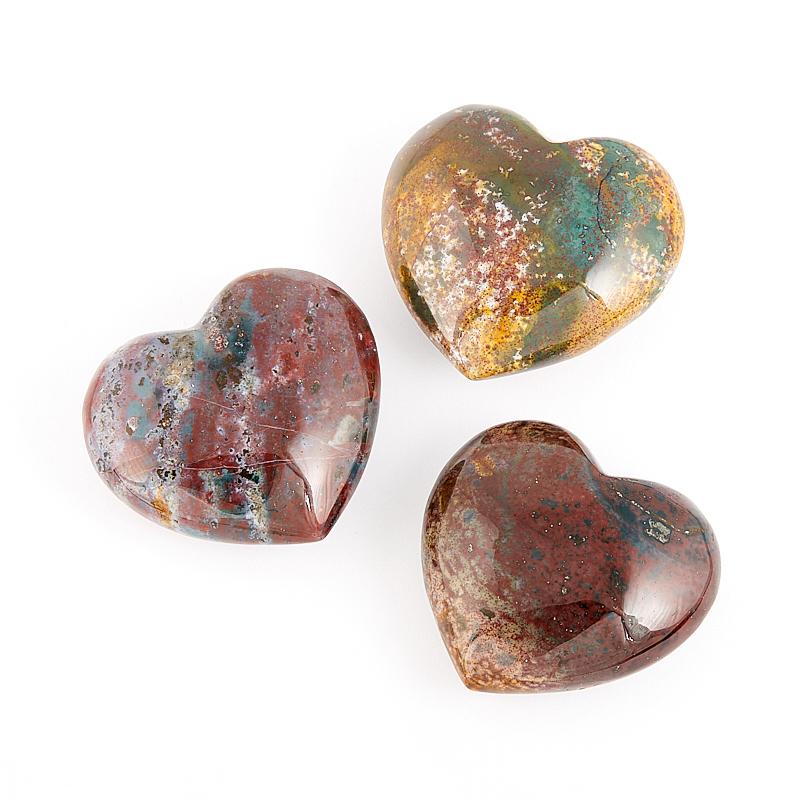Сердечко агат моховой  4-4,5 см