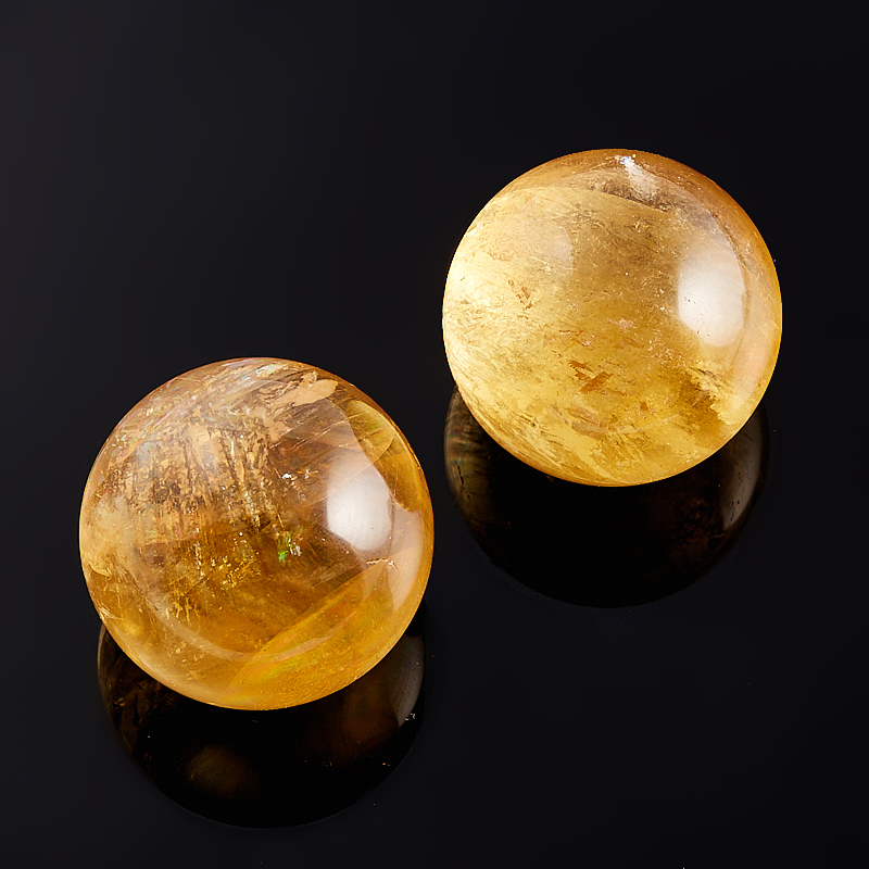 Шар кальцит желтый 3 см