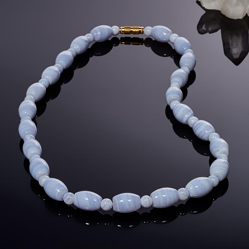 Бусы агат голубой 49 см россия бусы янтарные 22 70 4175