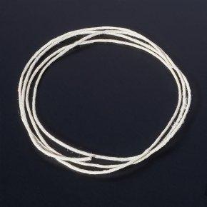Шнурок бежевый светлый 70 см
