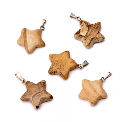 Кулон яшма рисунчатая Намибия звезда 2,5-3 см