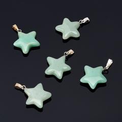 Кулон авантюрин зеленый Индия (биж. сплав) звезда 2,5-3 см