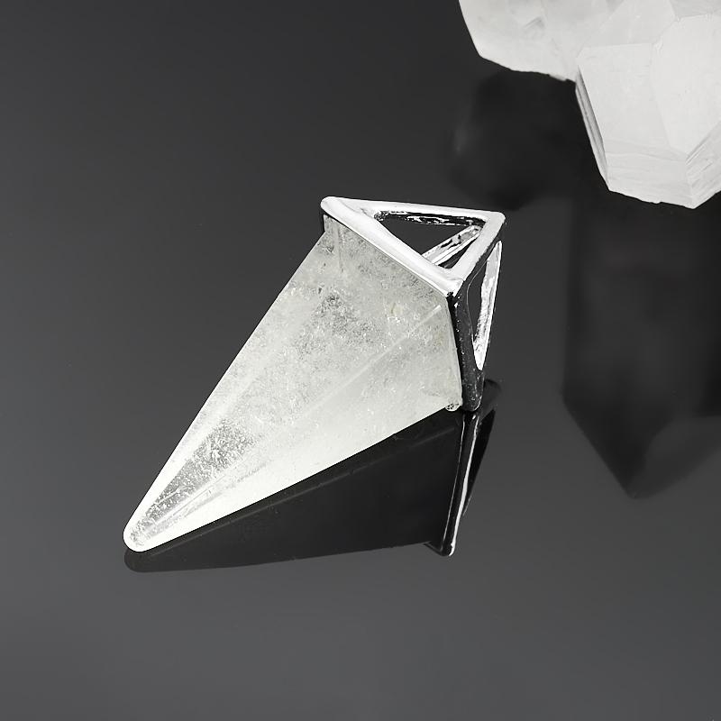 Кулон горный хрусталь  треугольник 4,5 см