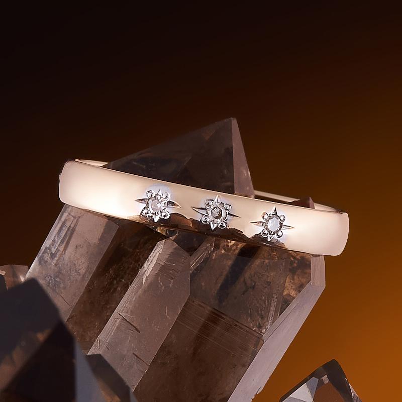 Кольцо бриллиант Россия огранка (обручальное) (золото 585 пр.) размер 16,5