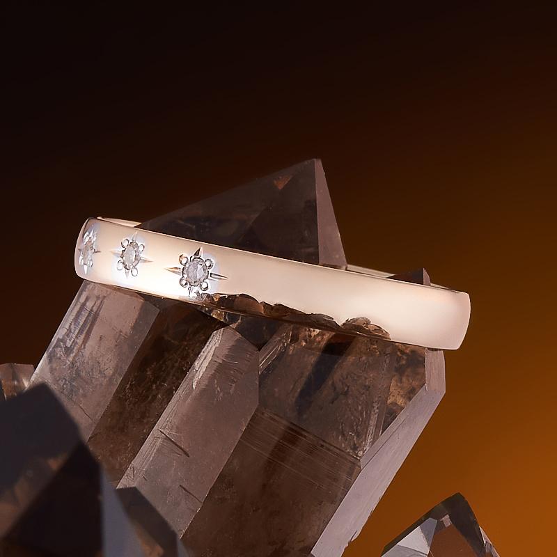 Кольцо бриллиант Россия огранка (обручальное) (золото 585 пр.) размер 21