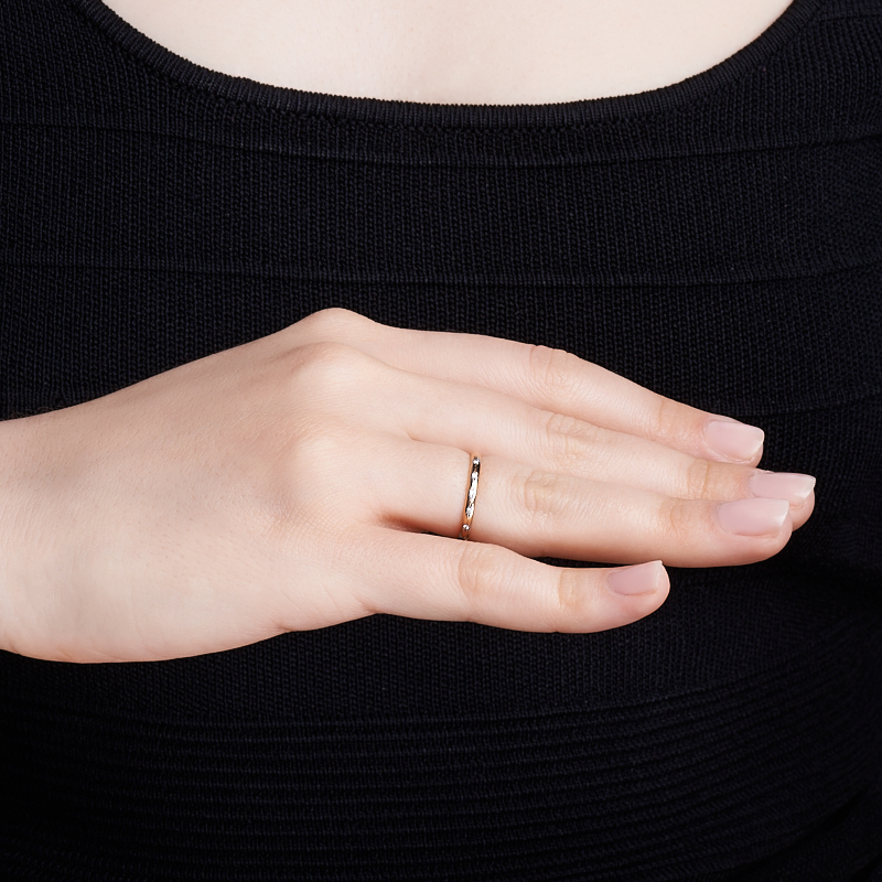 Кольцо бриллиант Россия огранка (обручальное) (золото 585 пр.) размер 15,5