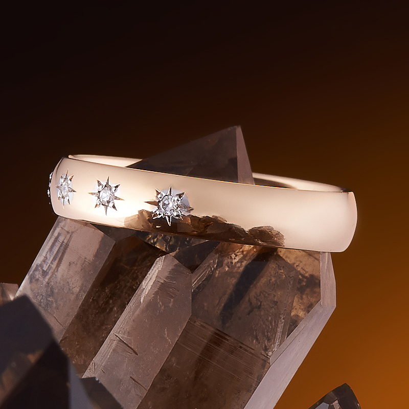 Кольцо бриллиант Россия огранка (обручальное) (золото 585 пр.) размер 22