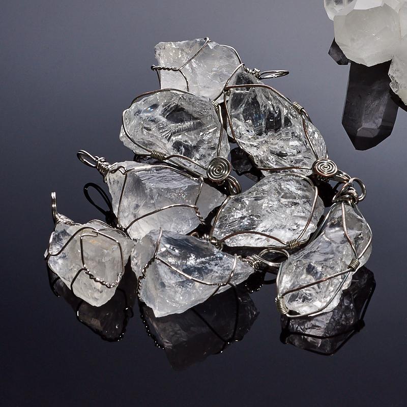 Кулон горный хрусталь  кристалл 4-5 см
