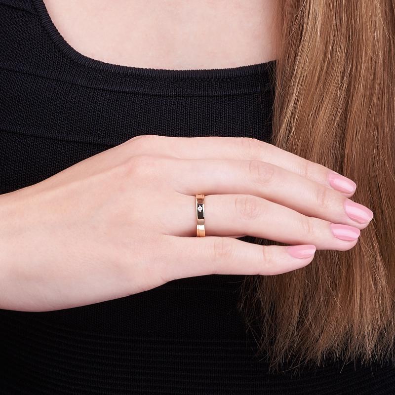 Кольцо бриллиант Россия огранка (обручальное) (золото 585 пр.) размер 18