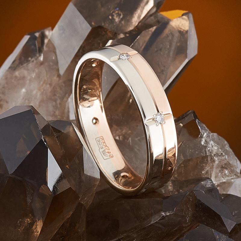 Кольцо бриллиант Россия огранка (обручальное) (золото 585 пр.) размер 15