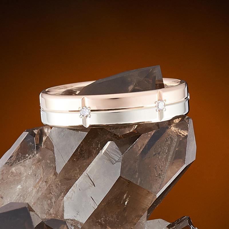 Кольцо бриллиант Россия огранка (обручальное) (золото 585 пр.) размер 17