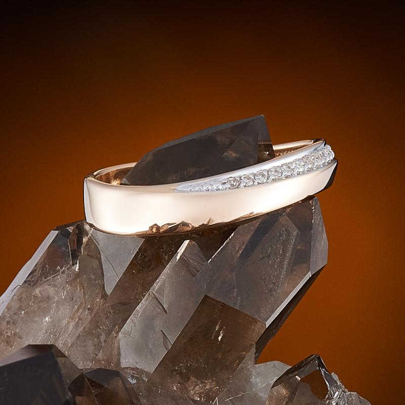 Кольцо бриллиант Россия огранка (обручальное) (золото 585 пр.) размер 16