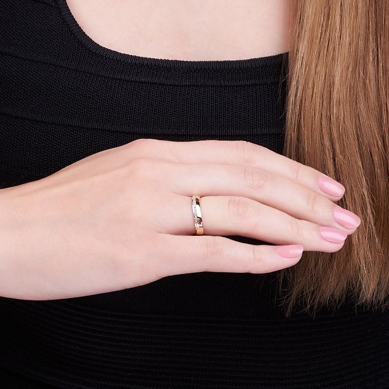 Кольцо бриллиант Россия огранка (обручальное) (золото 585 пр.) размер 19