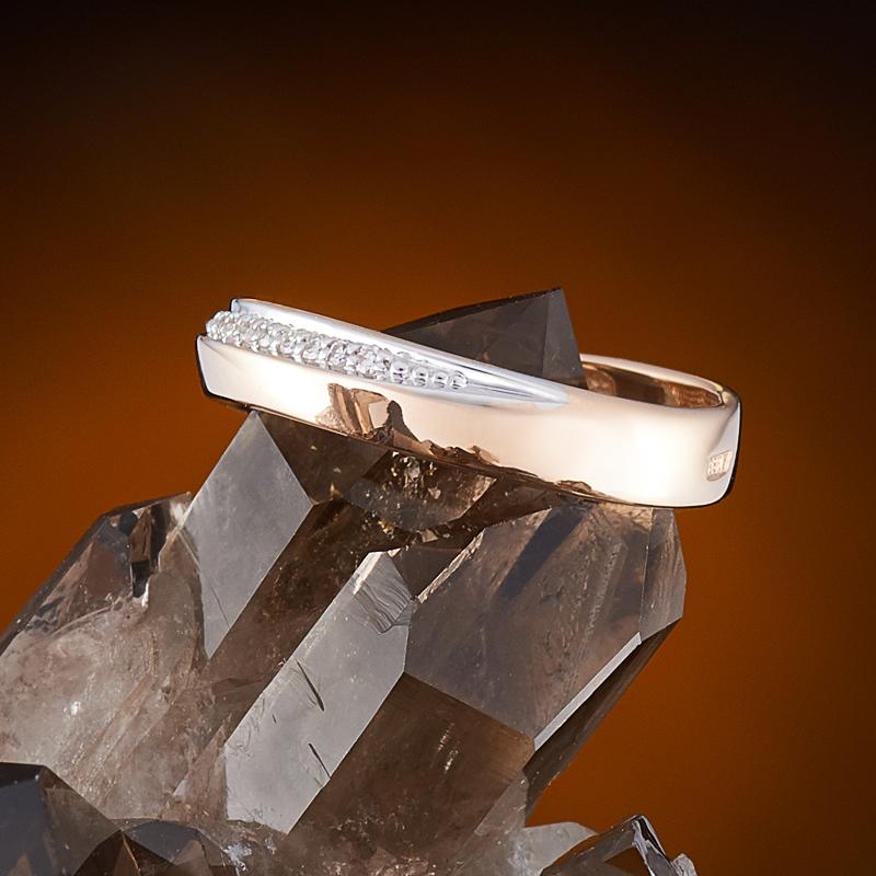 Кольцо бриллиант Россия огранка (обручальное) (золото 585 пр.) размер 20
