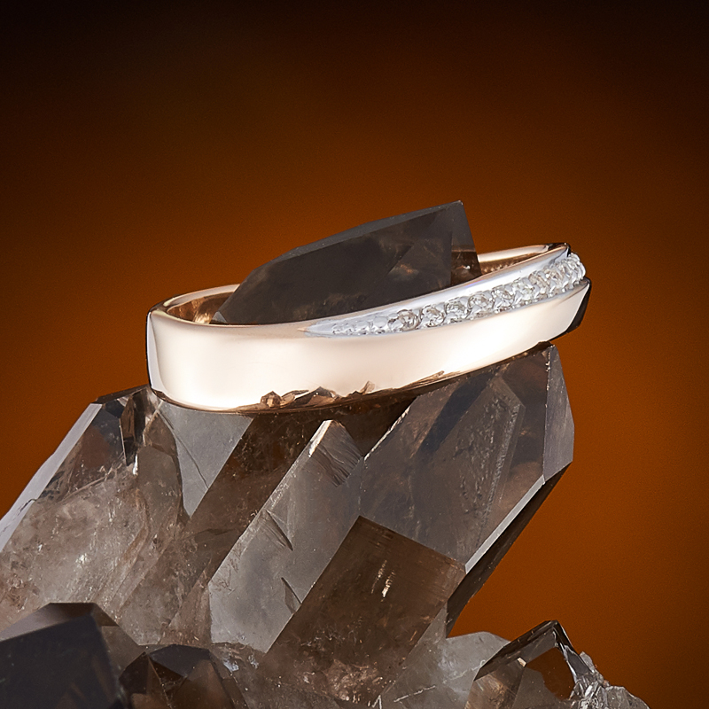 Кольцо бриллиант Россия огранка (обручальное) (золото 585 пр.) размер 20,5