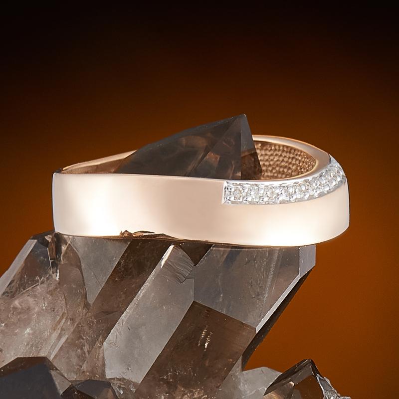 Кольцо бриллиант Россия огранка (обручальное) (золото 585 пр.) размер 18,5