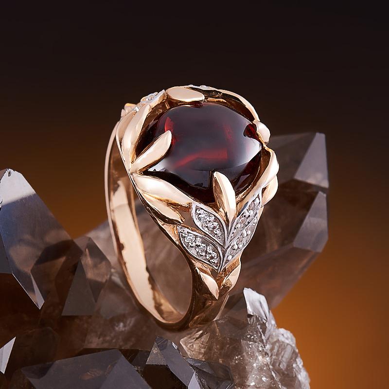 Кольцо гранат альмандин (золото 585 пр.) размер 18,5