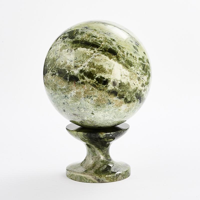 Шар офиокальцит на подставке 8 см дизайнерский елочный шар на подставке quelle russian elka 1021263