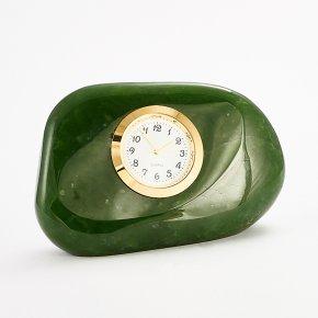 Часы нефрит зеленый Россия 5,5х9 см