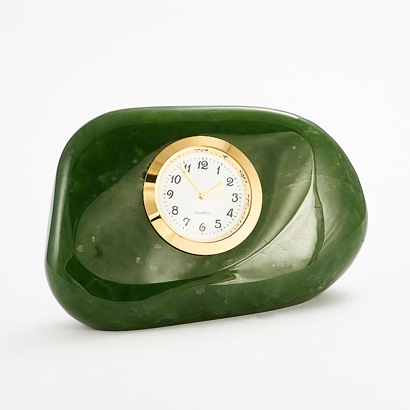 Часы нефрит зеленый 5,5х9 см стела нефрит зеленый m 3х6х13 см