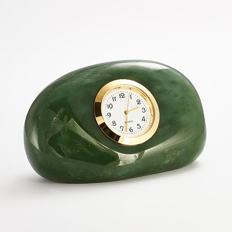 Часы нефрит зеленый  5,5х9 см
