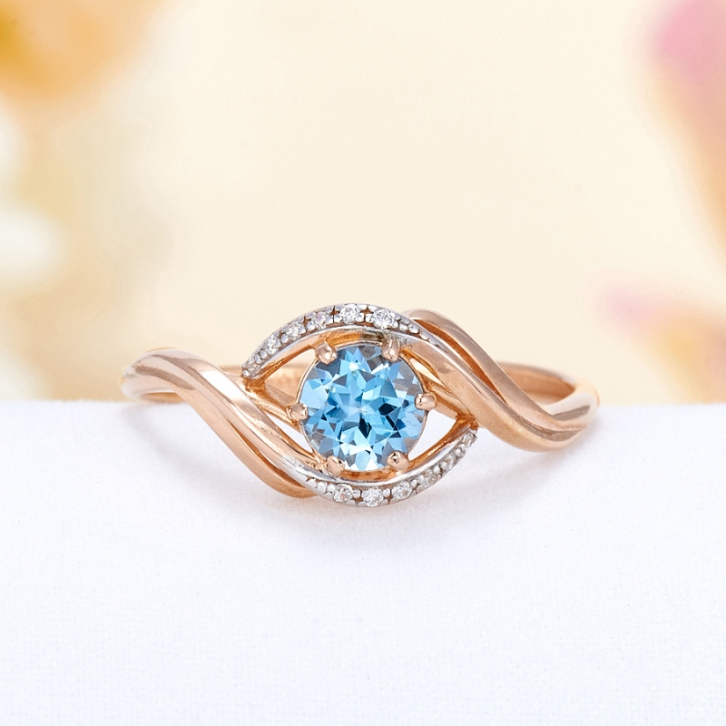 Кольцо топаз голубой огранка (серебро 925 пр., позолота) размер 15,5 кольцо топаз голубой огранка серебро 925 пр позолота размер 17