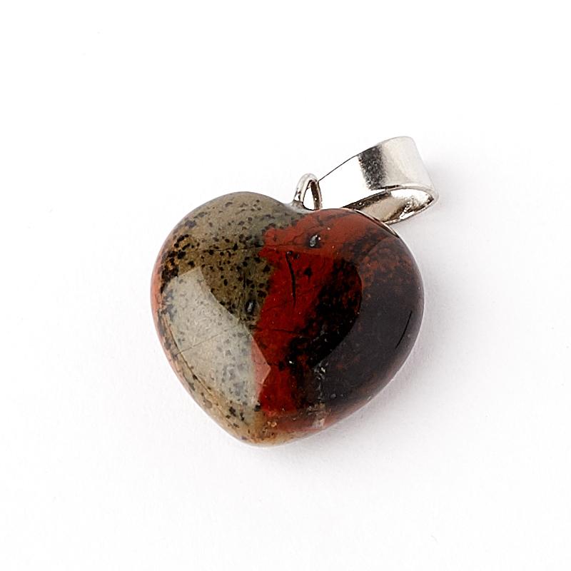Кулон яшма красная ЮАР сердечко 2-2,5 см