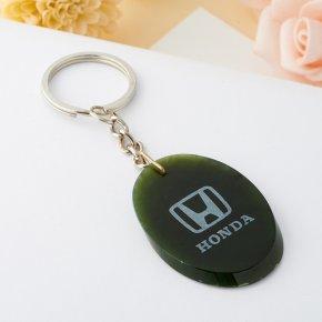 Брелок HONDA нефрит зеленый овал Россия 4,5 см