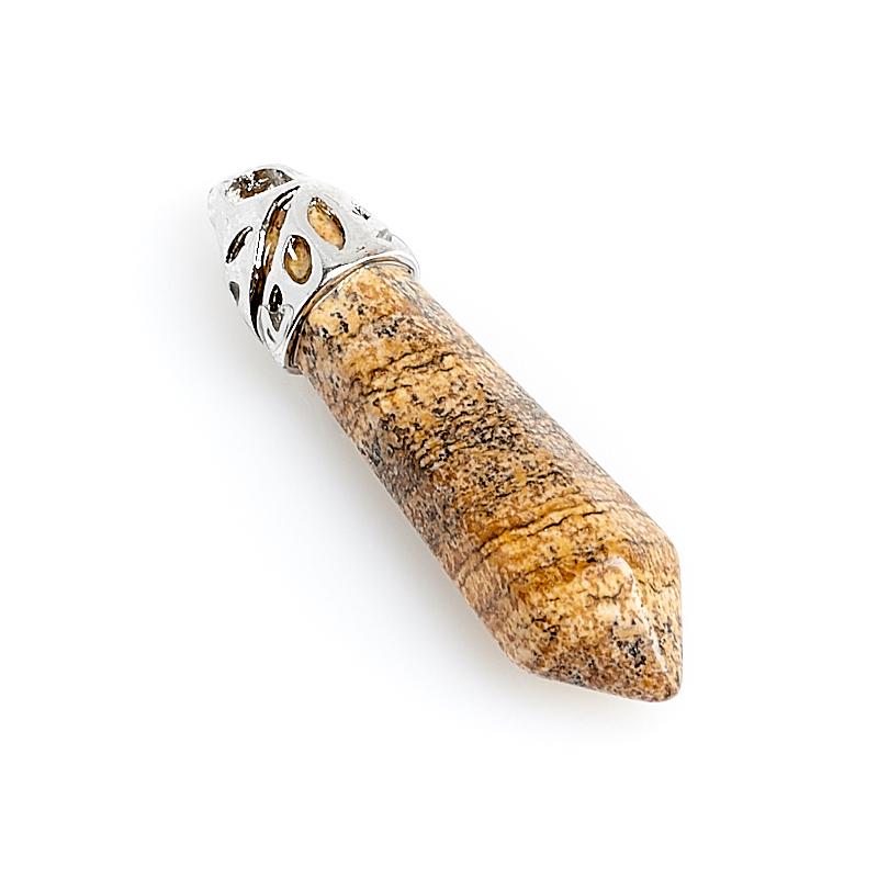 Кулон яшма рисунчатая Намибия кристалл 3,5 см