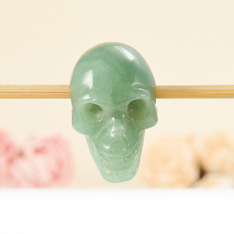 Кулон авантюрин зеленый  череп 3 см