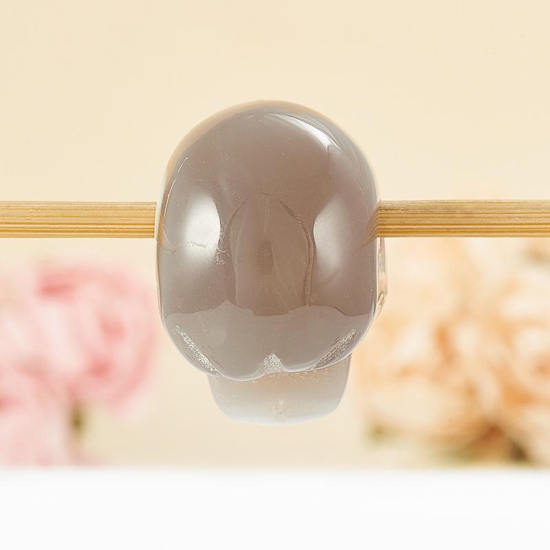 Кулон агат серый Ботсвана череп 3 см