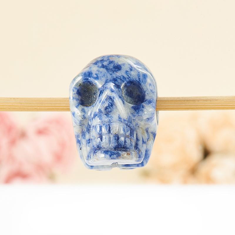 Кулон содалит  череп 3 см
