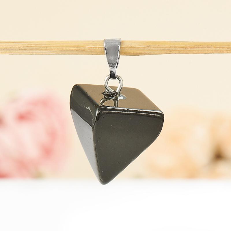 Кулон обсидиан черный  маятник 2,5 см