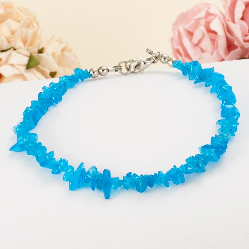 Браслет апатит синий  15 cм от Mineralmarket