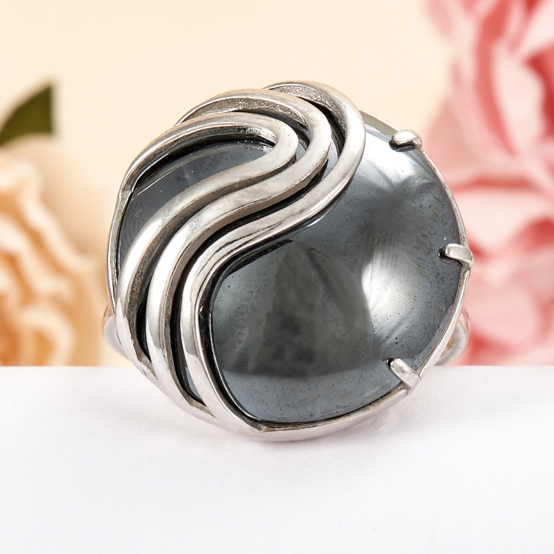 Кольцо гематит Бразилия (серебро 925 пр.) размер 15