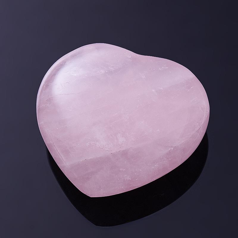 Сердечко розовый кварц  6 см