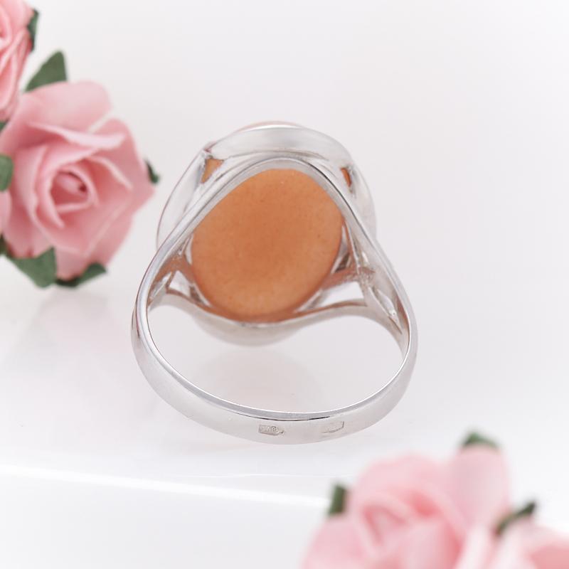 Кольцо солнечный камень Индия (серебро 925 пр.) размер 19,5