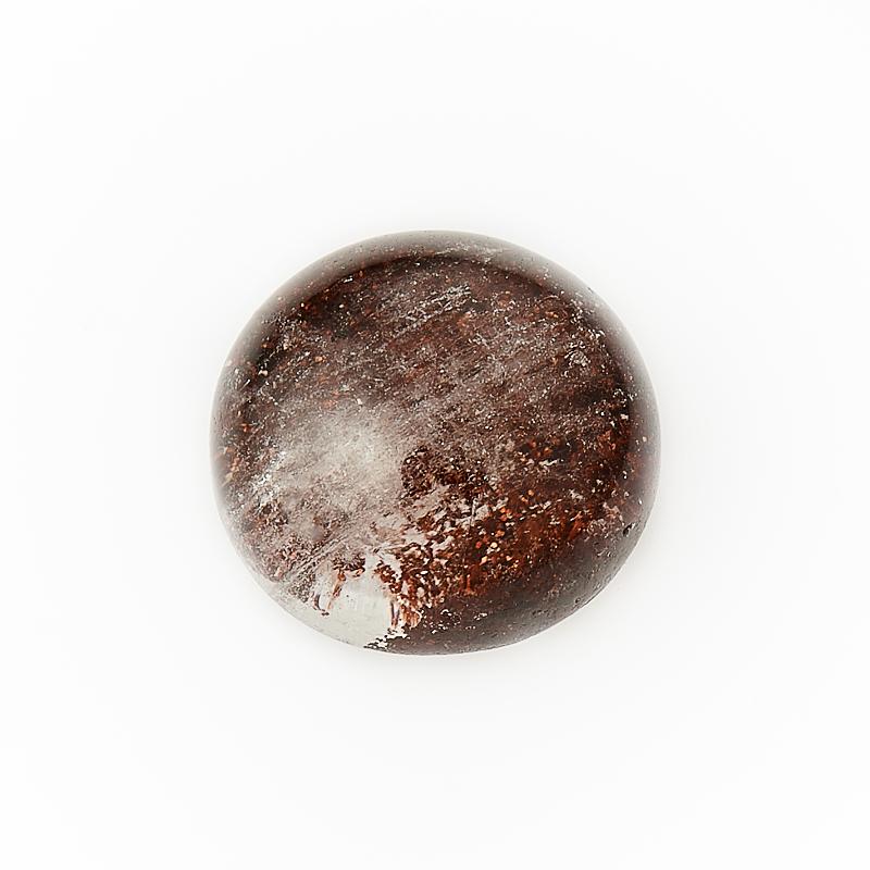 Кабошон кварц с хлоритом  10 мм