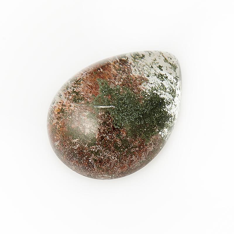 Кабошон кварц с хлоритом  12*16 мм