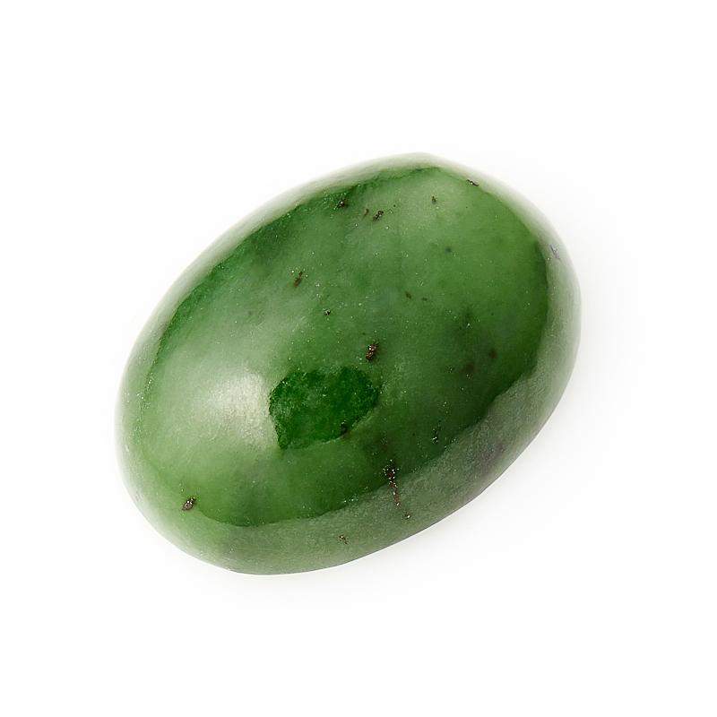 Кабошон нефрит зеленый  15*20 мм