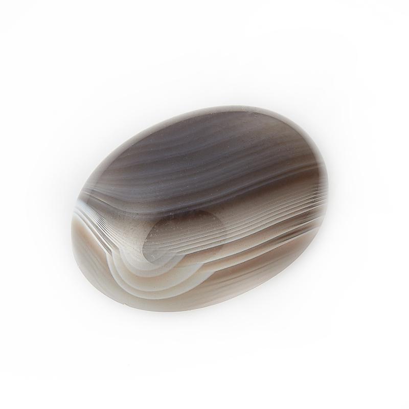 Кабошон агат серый 12*16 мм