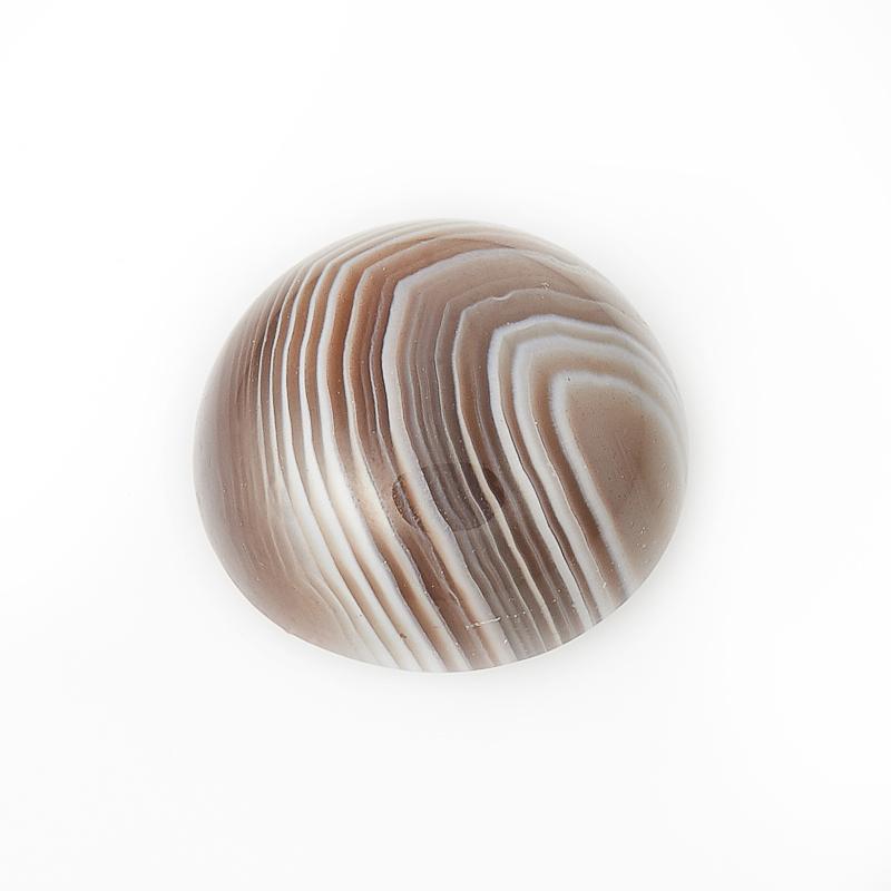 Кабошон агат серый  10 мм