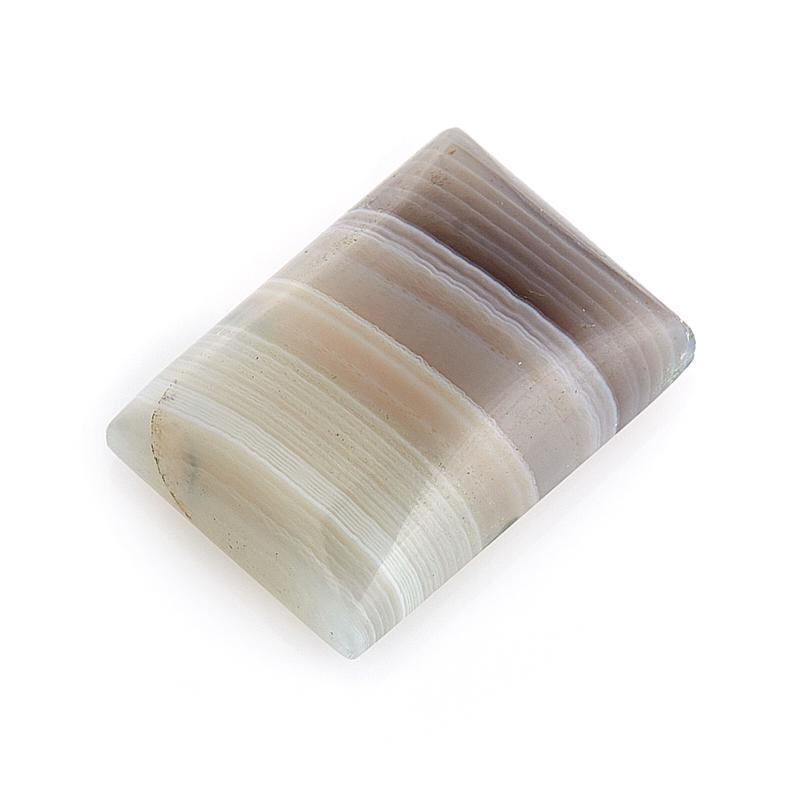 Кабошон агат серый Ботсвана 10*14 мм