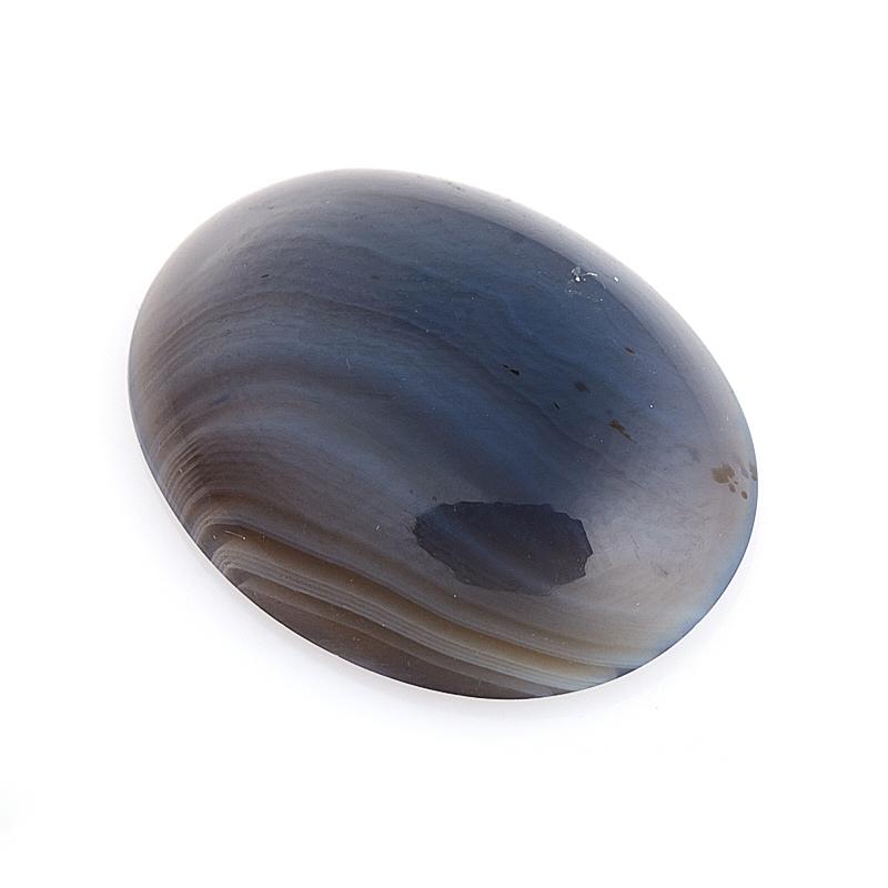 Кабошон агат серый Ботсвана 15*20 мм