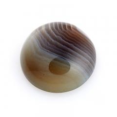 Кабошон агат серый Ботсвана 15 мм