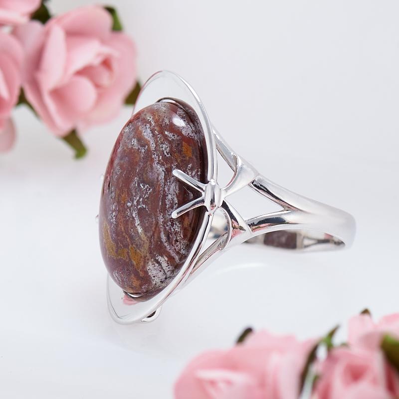 Кольцо яшма океаническая  (серебро 925 пр.) размер 19