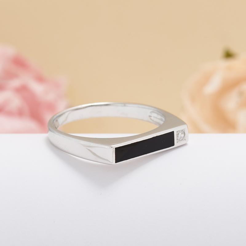 Кольцо агат черный  (серебро 925 пр.) размер 20,5 кольцо авантюрин серебро 925 пр размер 20 5