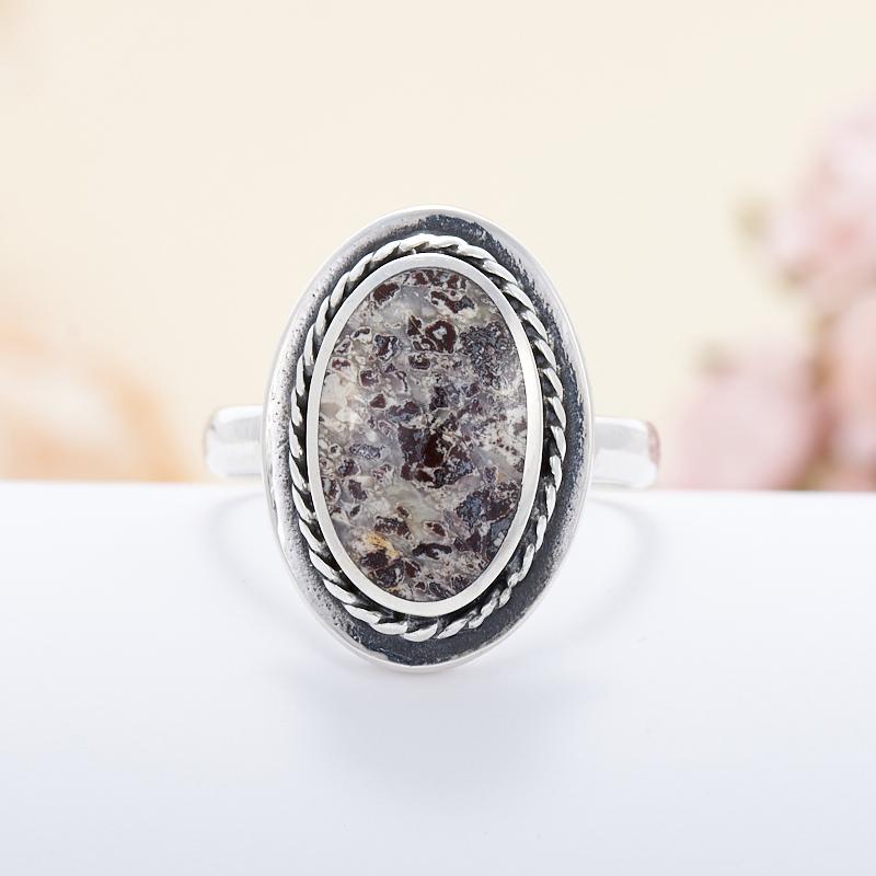 Кольцо яшма брекчиевая  (серебро 925 пр.) размер 18